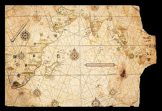 Map of the Indian Ocean, ca. 1519, by the Portuguese Cartographer Jorge Reinel